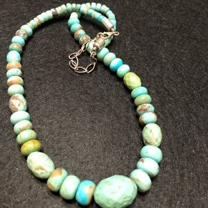 Vintage 925 silver and turquoise necklace